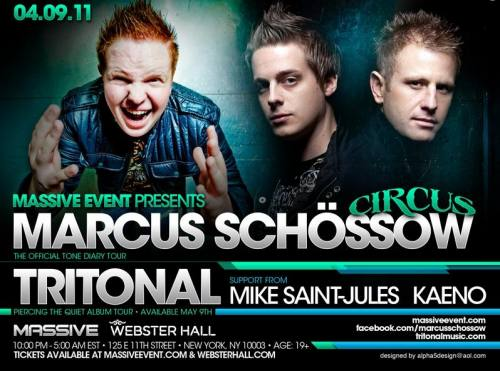 Marcus Schossow & Tritonal @ Webster Hall