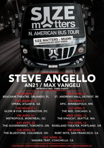 Size Matters Tour w/ Steve Angello, AN21 & Max Vangeli @ St. Andrews Hall