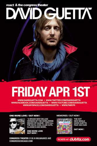 4.1 REACT PRESENTS: DAVID GUETTA AT THE CONGRESS THEATER