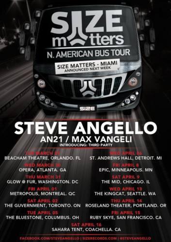 Size Matters Tour w/ Steve Angello, AN21 & Max Vangeli @ Beacham Theatre