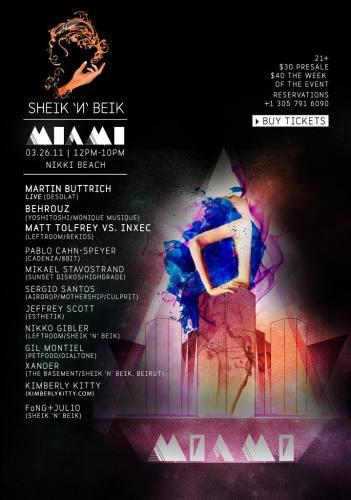 Sheik 'N' Beik Miami 2011 at Nikki Beach