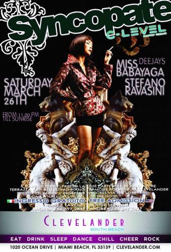Miss Babayaga Dj- Syncopate Party