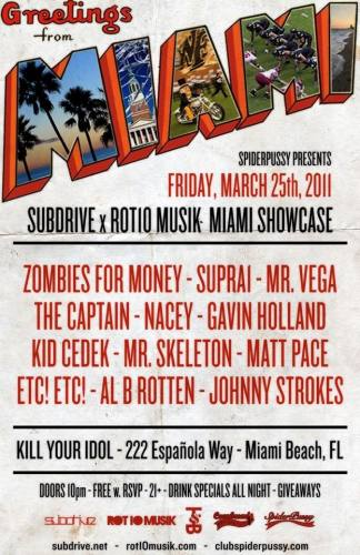 Spider Pussy presents Subdrive X Rot10musik Ultra Week Showcase