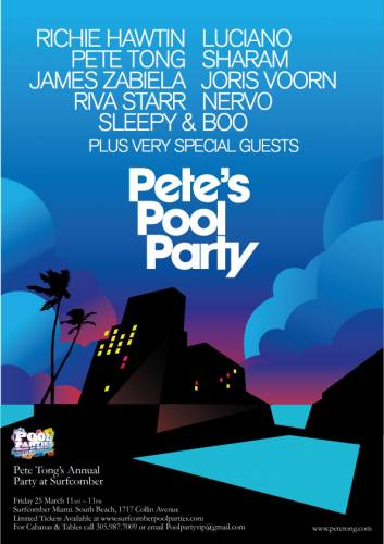 Pete Tong Radio 1 Pool party