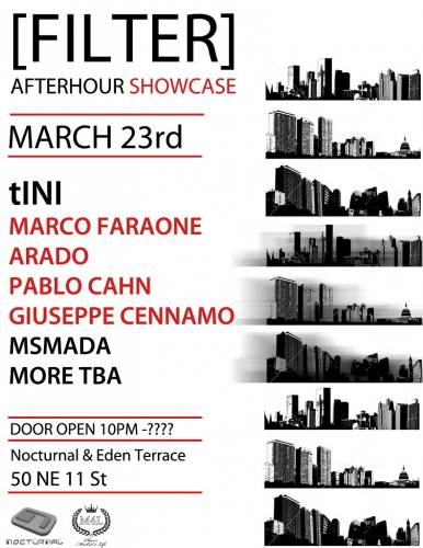 Filter present 'An Afterhour Showcase' with Tini & More