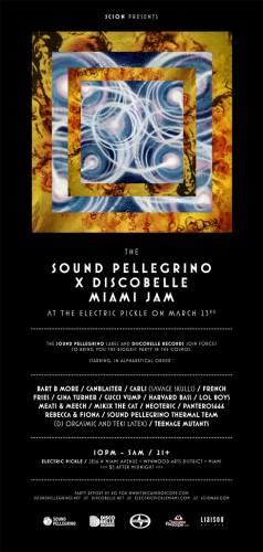 The Sound Pellegrino x Discobelle Records Miami Jam