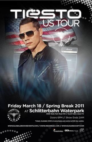Tiesto @ Schlitterbahn Waterpark (3/18)