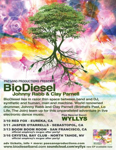 BIODIESEL / WYLLYS / NVO / BEN THOMPSON (Official Umphrey's McGee After Party)