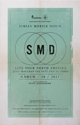 Simian Mobile Disco @ Roseland Theater