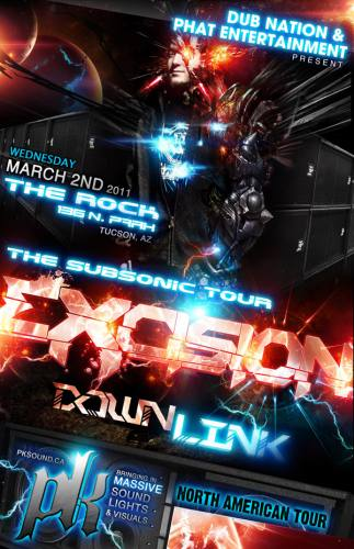 Excision Subsonic Tour in Tucson w/ Downlink & Antiserum