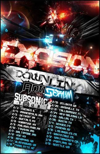 Excision Subsonic Tour in Houston w/ Downlink & Antiserum