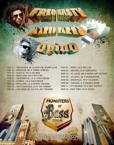 Monsters of Bass Tour @ Mystic Theatre