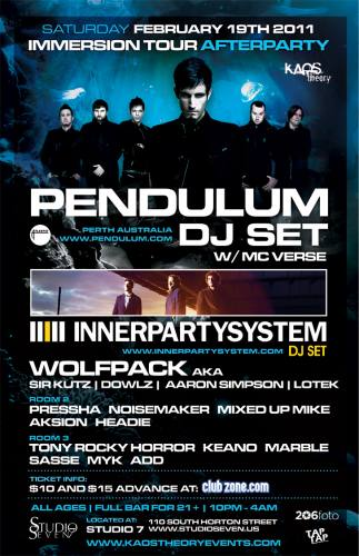 PENDULUM AFTERPARTY (DJ set) @ Studio 7