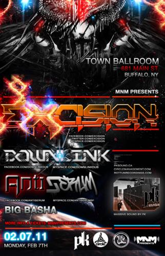 Excision Subsonic Tour in Buffalo w/ Downlink & Antiserum