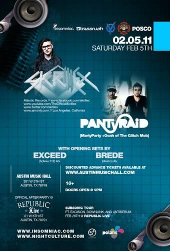 Skrillex & PantyRaid @ Republic Live