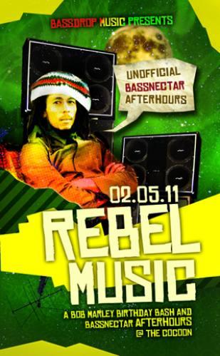 Rebel Music - Bob Marley Birthday Bash & Bassnectar Afterhours