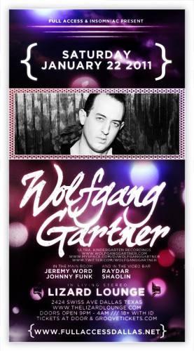 Wolfgang Gartner @ Lizard Lounge (1/22)