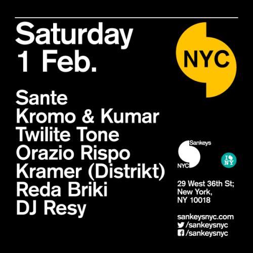 All Aboard: Santé, Kromo & Kumar, Twillite Tone + Reverb 002 @ Sankeys NYC