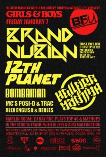 Girls & Boys w/ Brand Nubian + 12th Planet + Bombaman