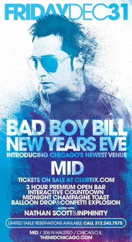BAD BOY BILL - NEW YEARS EVE @ THE MID