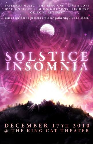 SOLSTICE INSOMNIA - 3 Rooms, 5 Headliners, art + more!