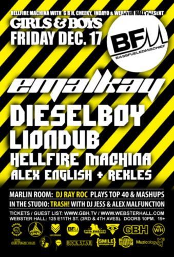 Emalkay + Diesel Boy + Lion Dub @ Girls & Boys