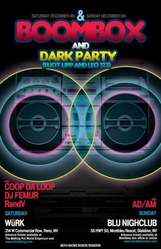 BoomBox and Dark Party @ Blu Nightclub
