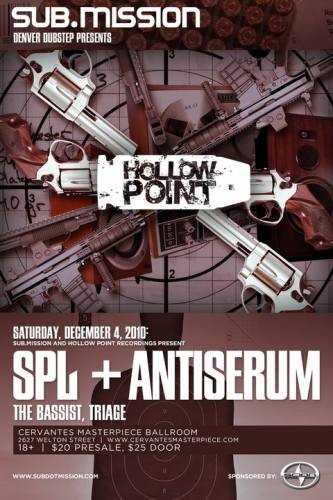 Sub.Mission and Hollow Point Recordings Present Antiserum, The Bassist, SPL and Triage