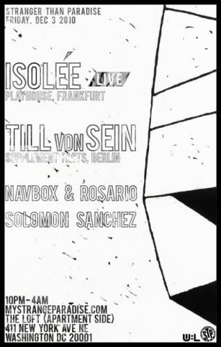 Stranger Than Paradise Loft Edition ft Isolée LiVE & Till von Sein