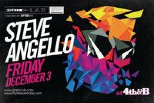 STEVE ANGELLO @ 4TH & B