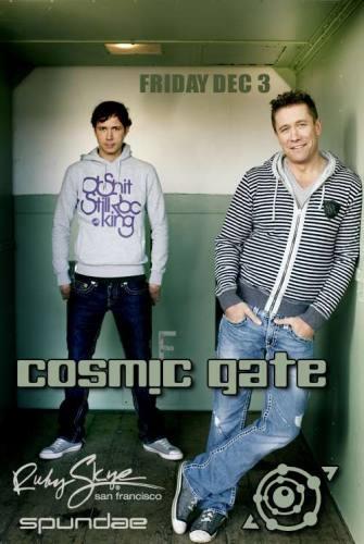 Cosmic Gate @ Ruby Skye (12/3)