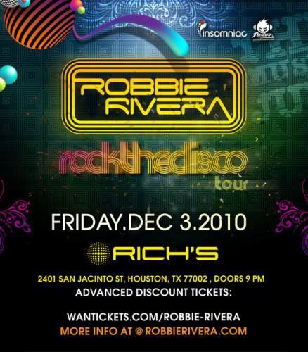 Robbie Rivera @ Rich's (12/3)