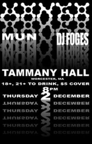 Mongo @ Tammany Hall w/ FOGES and Mun