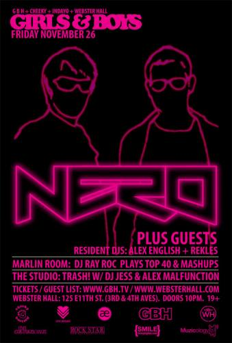 Girls & Boys w/ Nero + Guests @ Webster Hall