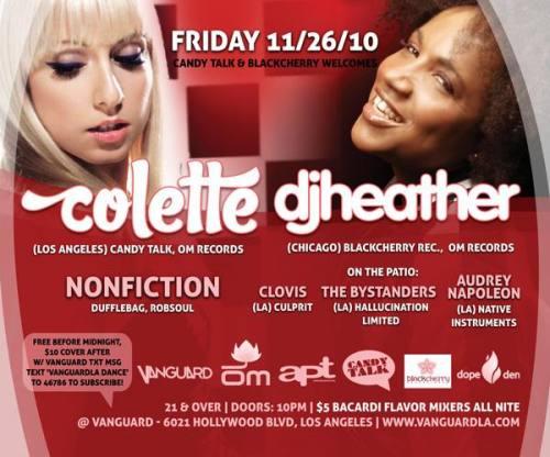 Colette & DJ Heather @ Vanguard