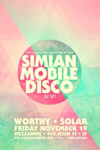 Simian Mobile Disco @ Mezzanine (11/19)