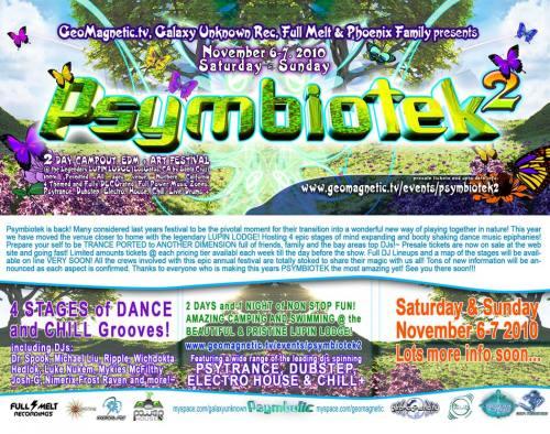 PSYMBIOTEK 2: Music, Art & Dance Festival