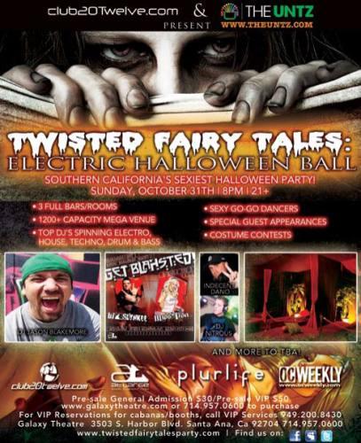 Twisted Fairy Tales: Electrowe'en Ball*JASON BLAKEMORE*MISS LISA*DJ SLYNKEE*