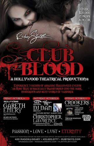 CLUB BLOOD - HALLOWEEN 2010 featuring DJ DAN & CHRISTOPHER LAWRENCE