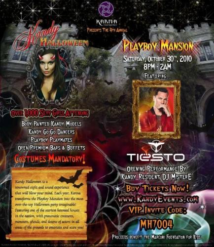 Playboy Mansion Halloween w/ Tiesto