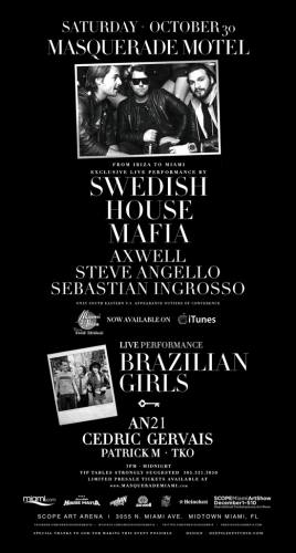 MASQUERADE MOTEL w/ SWEDISH HOUSE MAFIA & BRAZILIAN GIRLS