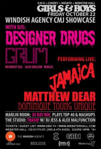 Girls & Boys w/ Designer Drugs + Grum + more @ Webster Hall
