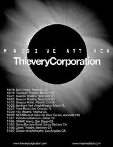 Thievery Corporation & Massive Attack @ Beacon Theatre (10/21)