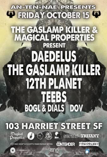 10/15/2010 COMPRESSION 11 YEAR ANNIVERSARY w/ DAEDELUS & THE GASLAMP KILLER