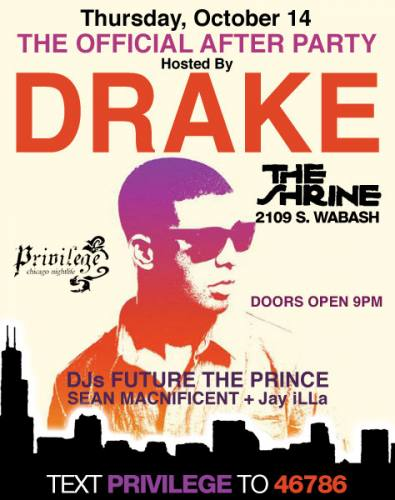 Drake Afterparty @ The Shrine (Oct 14th)