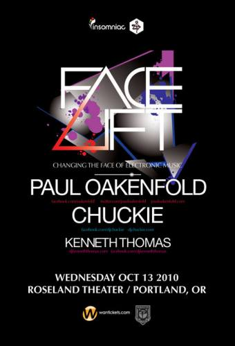 FACE-LIFT TOUR w/ Paul Oakenfold, Chuckie & Kenneth Thomas @ Roseland Theater
