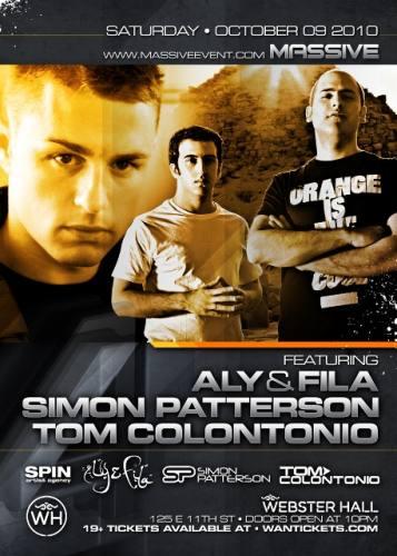 MASSIVE EVENT 4 Year Anniversary Party with Simon Patterson, Aly & Fila, and Tom Colontonio