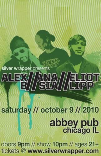 Eliot Lipp, Ana Sia, and Alex B @ Abbey Pub