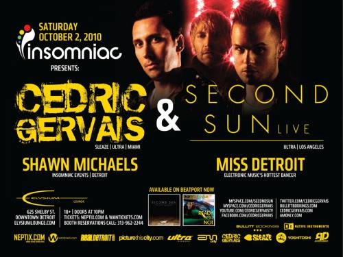 CEDRIC GERVAIS & SECOND SUN @ Elysium Lounge