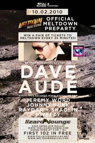 Meltdown Preparty w/ Dave Aude